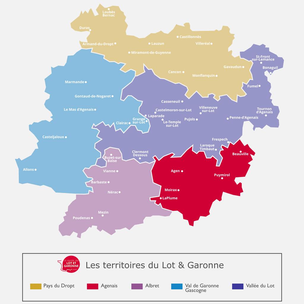 Carte de l'Agenais