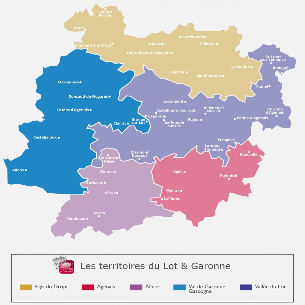 Carte du Val de Garonne & de la Gascogne